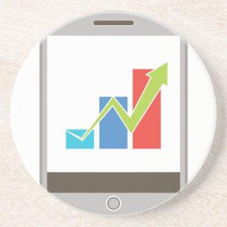 Icono móvil de la carta de las finanzas posavasos manualidades