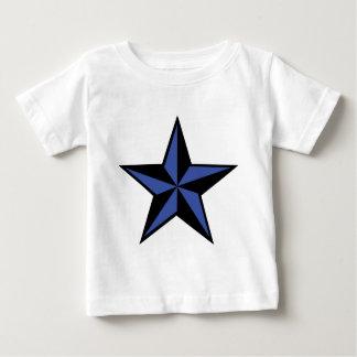 icono negro-azul de la estrella t-shirts