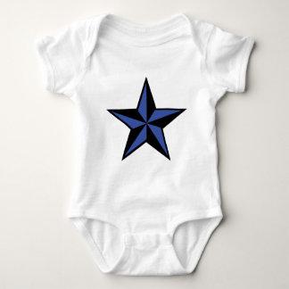 icono negro-azul de la estrella tee shirt
