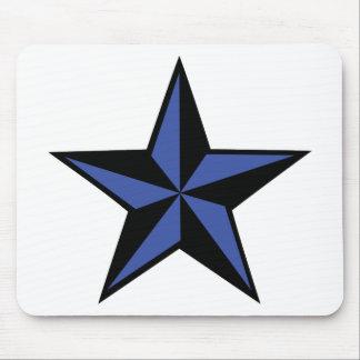 icono negro-azul de la estrella mousepads