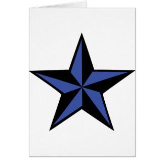 icono negro-azul de la estrella tarjeta de felicitación
