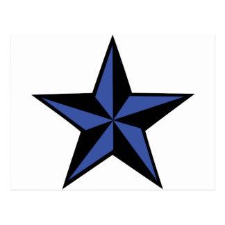 icono negro-azul de la estrella postales