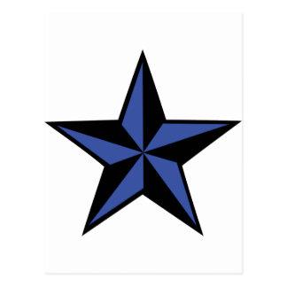 icono negro-azul de la estrella tarjeta postal