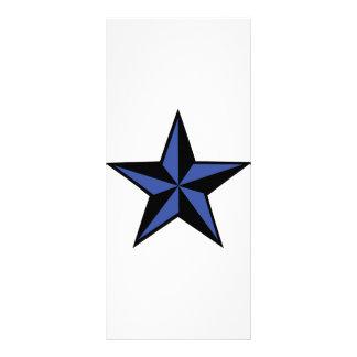 icono negro-azul de la estrella diseño de tarjeta publicitaria
