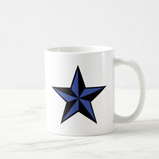 icono negro-azul de la estrella taza básica blanca