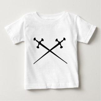 icono negro de dos espadas tee shirts