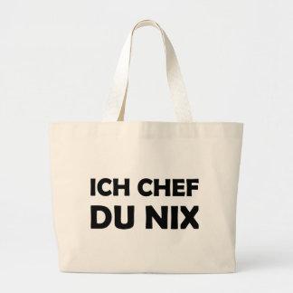 Icono negro de du nix del cocinero de Ich Bolsas De Mano