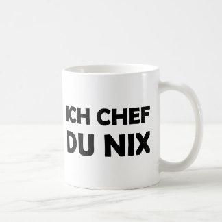 Icono negro de du nix del cocinero de Ich Taza De Café