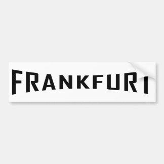 icono negro de Francfort Pegatina De Parachoque