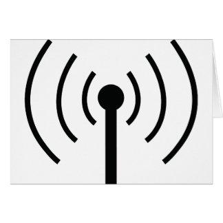icono negro de la antena tarjetón