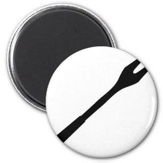icono negro de la bifurcación del Bbq Iman De Nevera