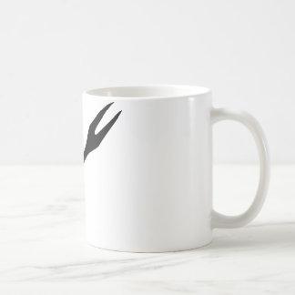 icono negro de la bifurcación del Bbq Taza De Café