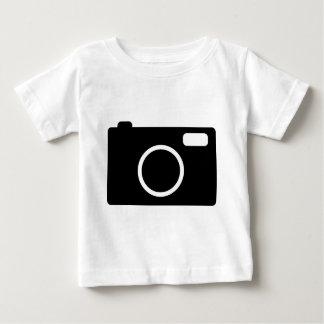 icono negro de la cámara playeras