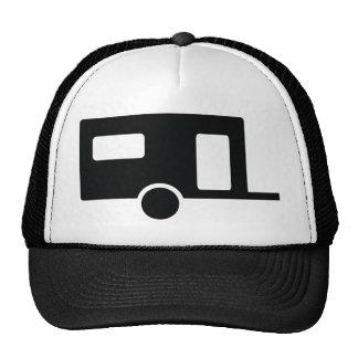 icono negro de la caravana gorro de camionero