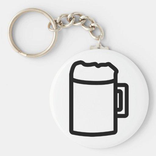 icono negro de la cerveza llavero personalizado