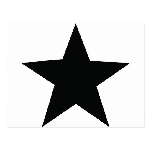 icono negro de la estrella postales