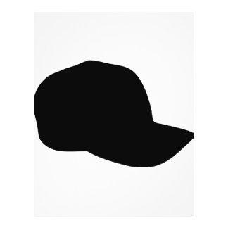 """icono negro de la gorra de béisbol folleto 8.5"""" x 11"""""""