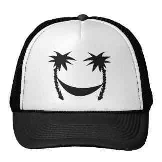 icono negro de la hamaca gorra