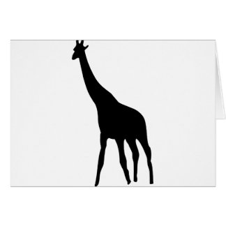 icono negro de la jirafa tarjeta de felicitación