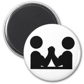 icono negro de la lucha india imán redondo 5 cm
