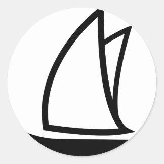 icono negro de la navegación pegatinas redondas