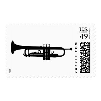 icono negro de la trompeta sellos