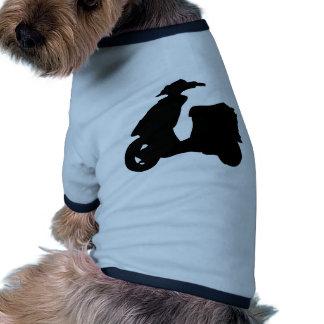 icono negro de la vespa ropa de perros