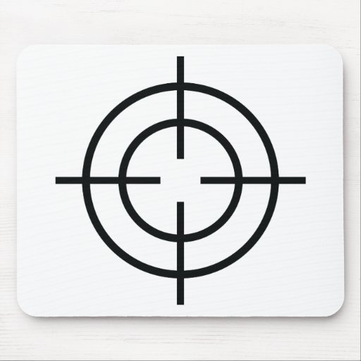 icono negro de las líneas de cruce del francotirad tapetes de raton