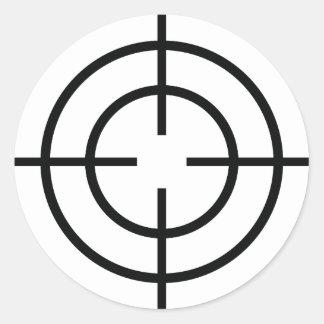 icono negro de las líneas de cruce del pegatina redonda