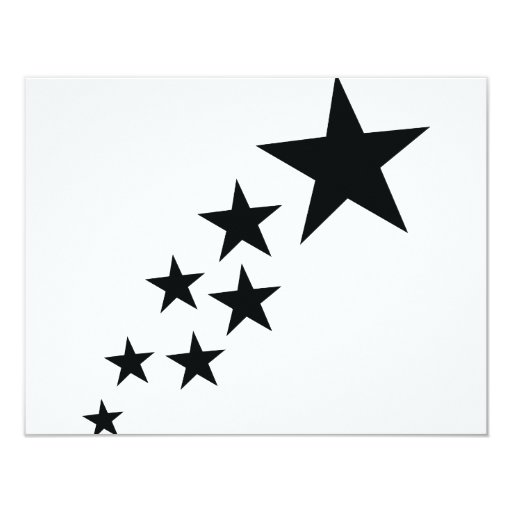 icono negro de siete estrellas anuncio personalizado