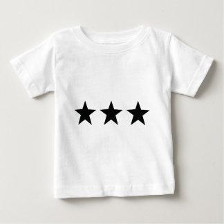 icono negro de tres estrellas remeras
