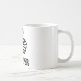 icono negro del autostopista taza de café