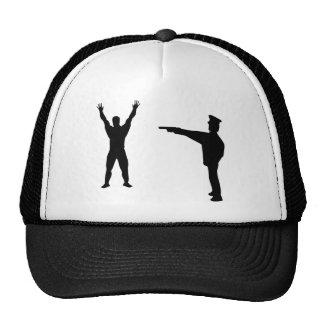 icono negro del bandido y del policía gorra