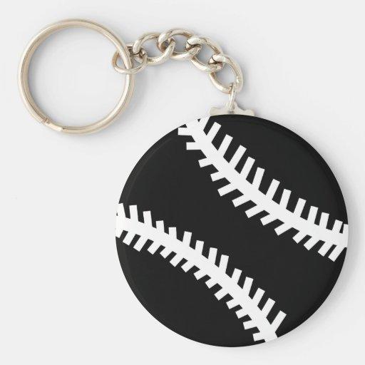 icono negro del béisbol llavero redondo tipo pin