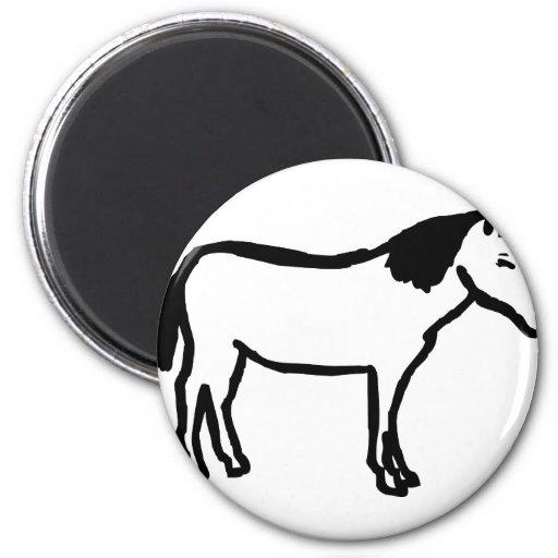 icono negro del caballo imán
