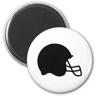 icono negro del casco de fútbol americano iman para frigorífico