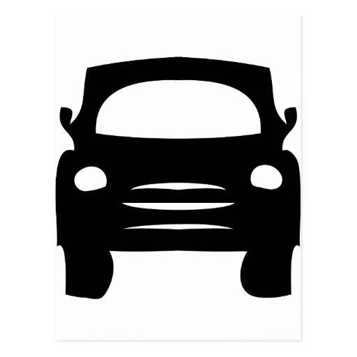 icono negro del coche postal