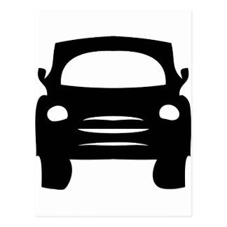 icono negro del coche tarjetas postales