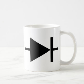 icono negro del diodo taza clásica