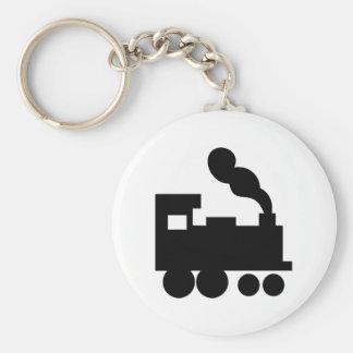 icono negro del ferrocarril del tren llavero