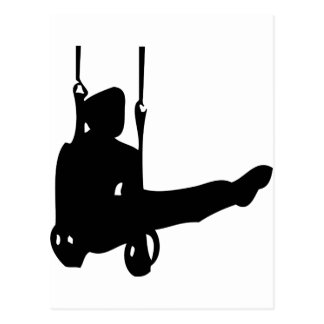 icono negro del gimnasta postales