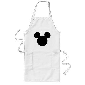 Icono negro del logotipo el | Mickey de Disney Delantal Largo