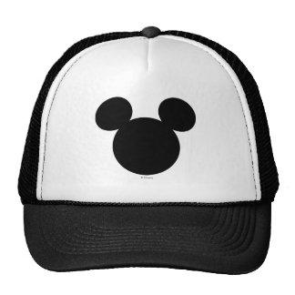 Icono negro del logotipo el   Mickey de Disney Gorra