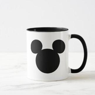 Icono negro del logotipo el | Mickey de Disney Taza