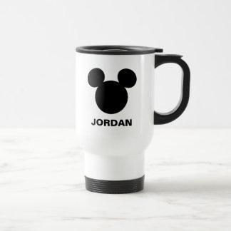 Icono negro del logotipo el | Mickey de Disney Taza De Viaje