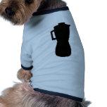 icono negro del mezclador prenda mascota