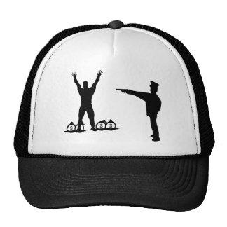 icono negro del poli y del ladrón gorras