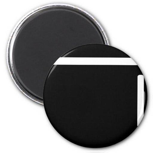 icono negro del refrigerador del refrigerador imanes de nevera