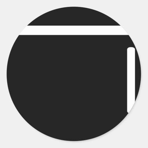icono negro del refrigerador del refrigerador pegatinas
