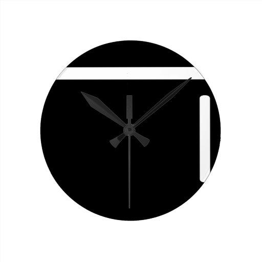 icono negro del refrigerador del refrigerador reloj de pared